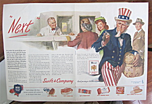 1945 Swift & Company With Uncle Sam Looking At Watch