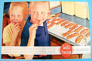 Vintage Ad: 1960 Swift Premium Bacon