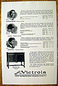 1923 Victrola Talking Machine With Heifetz, Alda & More