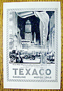 1923 Texaco With City Scene & Pouring Oil