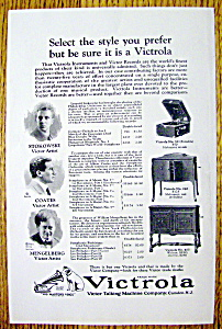 1924 Victrola Talking Machine With Stokowski & More