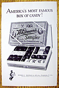 1925 Whitman's Sampler Chocolates & Confections