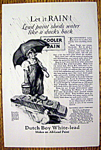 1926 Dutch Boy White Lead Paint w/Dutch Boy & Umbrella (Image1)