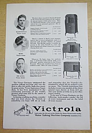 1924 Victrola Talking Machines w/ Bori, De Luca & More (Image1)