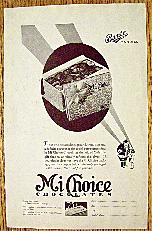 1929 Bunte Mi Choice Chocolates With Box Of Candy