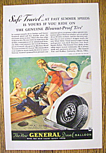 1934 General Tire With Couple Greeting Woman On Boat