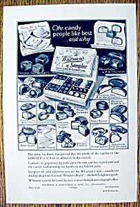 1934 Whitman's Sampler Chocolates & Confections