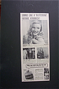 1941 Calox Tooth Powder With Veronica Lake