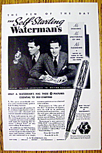 1935 Self Starting Waterman's Pen