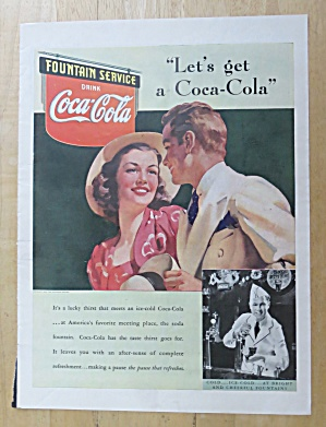 1939 Coca Cola (Coke) With Man & Woman Talking