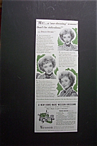 1941 Wesson Oil With Billie Burke