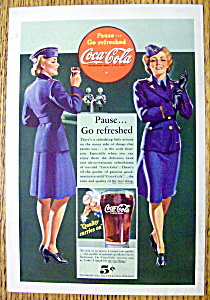 1942 Coca Cola (Coke) With Woman Soldier