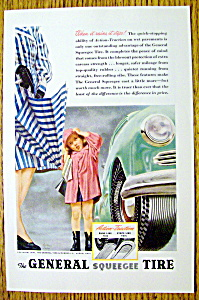 1947 General Squeegee Tire with Woman Holding Umbrella (Image1)