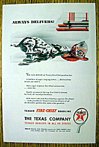 1947 Texaco Fire Chief Gasoline W/dalmatian & Hat