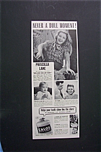1941 Calox Tooth Powder With Priscilla Lane