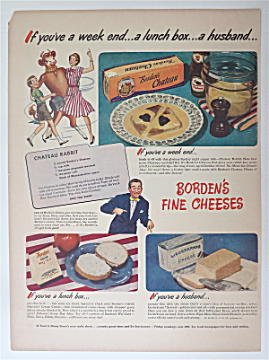 1945 Borden's Fine Cheeses With Chateau Rabbit