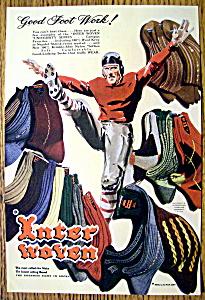 1948 Interwoven Socks with Football Player (Image1)
