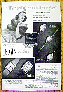 1948 Elgin Watches With Rosalind Russell