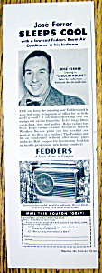 1953 Fedders Air Conditioner With Jose Ferrer