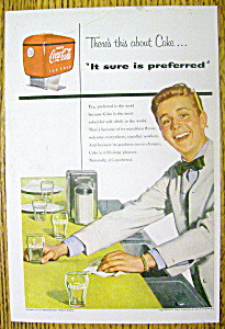 1954 Coca Cola (Coke) With Soda Boy Cleaning Counter