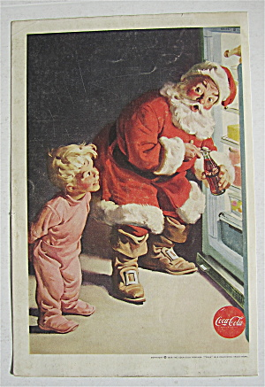 1959 Coca Cola (Coke) with Santa Claus & Little Boy  (Image1)