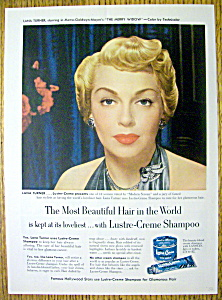 1952 Lustre Creme Shampoo With Lana Turner