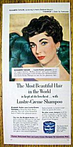 1952 Lustre Creme Shampoo with Elizabeth Taylor (Image1)