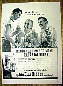 1940 Pabst Blue Ribbon Beer (Image1)