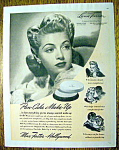 1941 Max Factor Pan Cake Make Up With Lana Turner