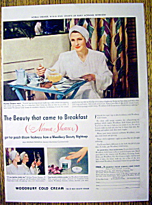 1941 Woodbury Cold Cream With Norma Shearer