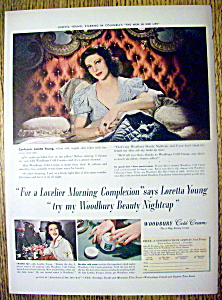 1941 Woodbury Cold Cream With Loretta Young