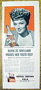 1942 Royal Crown Cola With Olivia De Havilland