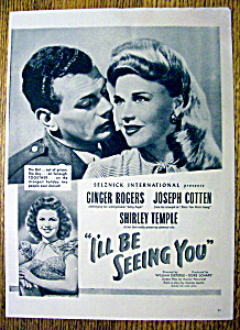 1944 I'll Be Seeing You With Shirley Temple