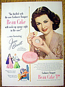 1947 Cashmere Bouquet Beau Cake With Joan Bennett