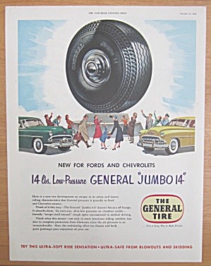 1952 General Tires With The General Jumbo 14 Tire