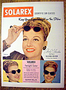 1948 Solarex Sun Glasses With Ann Sheridan