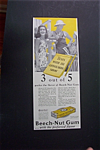1941 Beech Nut Gum With Lifeguard Talking To Girls