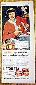 1948 Lipton Tea With Jane Wyman