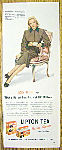 1948 Lipton Tea With Ann Todd