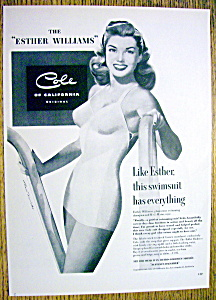 Vintage Ad: 1949 Cole Swim Suit with Esther Williams (Image1)