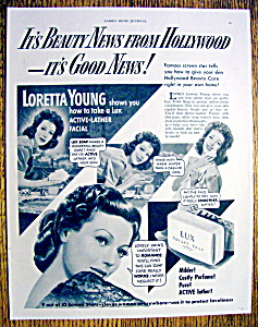 Vintage Ad: 1951 Lux Soap with Loretta Young (Image1)
