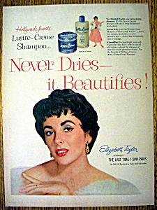 1954 Lustre Creme Shampoo with Elizabeth Taylor (Image1)