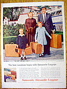 1956 Samsonite Luggage with June Allyson & Dick Powell (Image1)