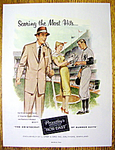 Vintage Ad: 1956 Priestley Nor-East Suits (Image1)