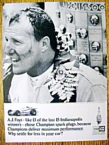 1964 Champion Spark Plugs with A. J. Foyt (Image1)