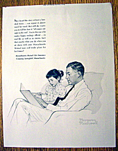 1953 Massachusetts Mutual Life Ins By Norman Rockwell