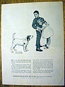 1960 Massachusetts Mutual Life Ins By Norman Rockwell