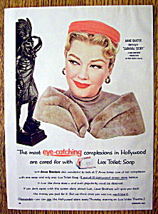Vintage Ad: 1954 Lux Toilet Bar Soap with Anne Baxter (Image1)