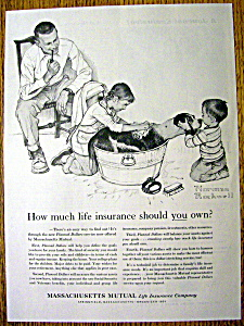 1961 Massachusetts Mutual Life Ins By Norman Rockwell