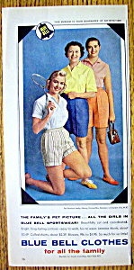 1959 Blue Bell Clothes with Three Women In Sportswear (Image1)